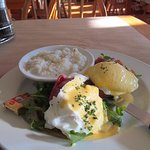 eggs benedict with a side of grits