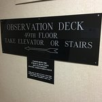 One of two elevators you'll need to take!