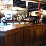 The attractive traditional bar area