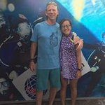 Kirana and I after I completed the PADI.