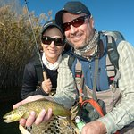 We had a superb dry fly fishing for Brown trout.