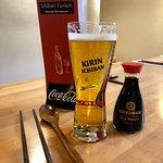 Ichiban beer on draught.