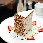 The famous 12-layer Ultimate Coconut Cake, Peninsula Grill's signature dessert for 20+ years!