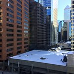 Great city view of roof tops and buildings