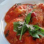 ravioli and marinara