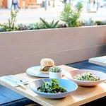 Salad, Burgers, and Pasta