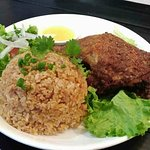 Spicy Fried Chicken with Five Flavours plus Tomato Fried Rice