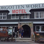 Forgotten World Motel, run by the tour company. Comfortable.