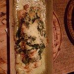 Crêpes de salmón ahumado gratinados con espinacas!