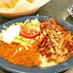 Chicken Chimichanga and Pollo con Arros