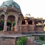 temple inside garden