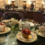 Cake and Tea in the lobby