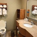 large bathroom, well-appointed