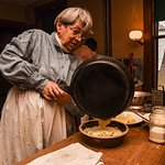 Cooking demonstrations using traditional recipes occur regularly in the 1890 Farmhouse kitchen