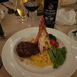 Chef's recommended surf and turf !!!! I slept well
