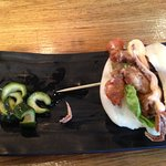 Soft Shell Crab Hirata Bun - mostly filled with lettuce, pretty expensive at £7 each