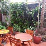 Jardín en el cual se podia desayunar