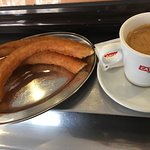 awesome churros and average black coffee