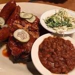 Pick 3 - Hot Links, Pulled Pork Brisket, Slaw, Beans