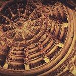 Intricate lattice work on ceiling - Udiapur Jain temple