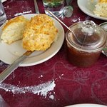 Biscuits & pear butter