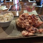 Lobster roll and slaw