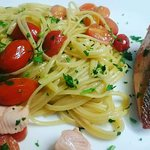 Special....Fresh grilled salmon with salmon pasta
