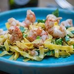 Every day at Quinlan's our specials vary depending on catch we land -a delicious Prawn tagliatel