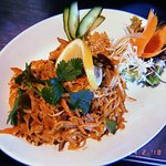 Lunch - Pad thai noodles with chicken