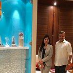 With Gunjan Charla, Director of Spa