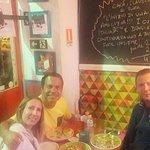 Rafa having dinner with Italian friends