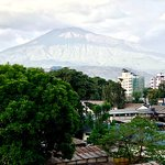 you can see the Mount Meru from your window!!