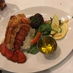4 oz filet and lobster tail dinner