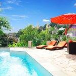 Fabulous sun deck and pool with views of Santa Teresa