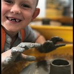 Childrens pottery throwing parties available at Artshed Arts