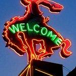 The Iconic Neon Buckin' Bronco