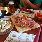 Strahov Monastic Brewery traditional platters with beer