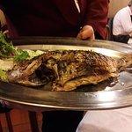 Roasted whole local fish....