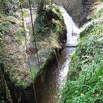 il fosso dell'acquarossa e in fondo la cascata