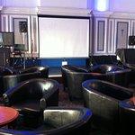 Lounge room with bar