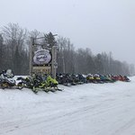 Plenty of sled parking