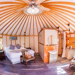Cheewhat Yurt Interior fisheye lens