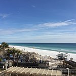 View of the white sugar sandy beach from the balcony Beachside 2 #4244