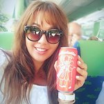You can buy this drink on the bus, Almdudler, Try it!