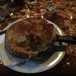 The chicken pot pie; great crust, modest size.
