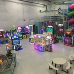 Arcade, Kid Zone, and Café seating