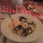 Seafood pasta at the Union Hotel