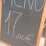 precio del menu.