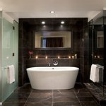 Five-Piece Bathroom with heated marble floors