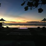 Amazing sunset at the infinity pool!